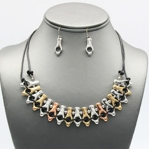 Jewelry - Silver, Gold, Rose Gold Metal Necklace Set